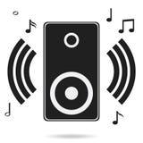 Audio speakers, audio speakers icon with shadow, music. Flat design, illustration stock illustration