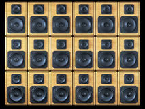Audio speakers background Stock Photos