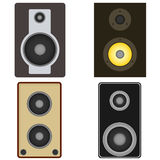 Audio speakers. Icon. Flat design, vector illustration, vector royalty free illustration