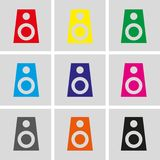 Audio speakers icon stock vector illustration flat design Stock Images