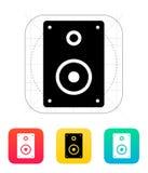Audio speakers icon. Vector illustration stock illustration