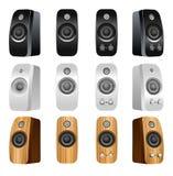 Audio speakers. Illustration of Audio speakers set stock illustration