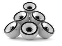 Audio speakers. Isolated on white background royalty free illustration