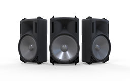 Audio Speakers Isolated on White Background Royalty Free Stock Photography