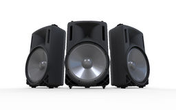 Audio Speakers Isolated on White Background. 3d render Royalty Free Stock Photography