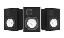 Audio Speakers Isolated. On white background. 3D render vector illustration
