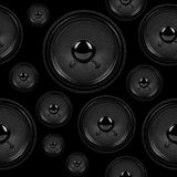 Audio speakers, seamless background pattern Royalty Free Stock Images