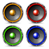 Audio speakers set. Stock Images