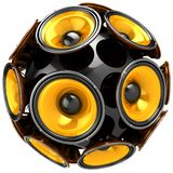 Audio speakers sphere Royalty Free Stock Image