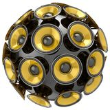 Audio speakers sphere Royalty Free Stock Photography
