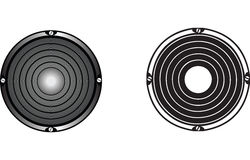 Audio speakers vector Royalty Free Stock Photography
