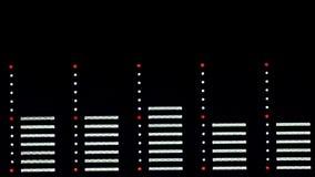 Audio spectrum analyzer stock video