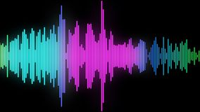 Audio spectrum glow 04 Royalty Free Stock Photo