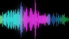Audio spectrum glow 04 Royalty Free Stock Photo
