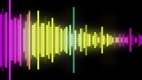 Audio spectrum pixel style Royalty Free Stock Image