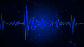 Audio spectrum waveform abstract graphic display Stock Photography