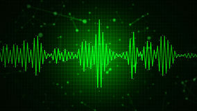 Audio spectrum waveform abstract graphic display. For sound, music, recording, speech and voice recognition background Stock Photos