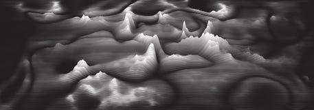 Audio-Spektrum wavefrom Echo des Vektors 3d Musik bewegt futuristische Sichtbarmachung des Oszillationsdiagramms wellenartig Gray lizenzfreie abbildung