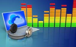 audio spettro in bianco 3d Immagini Stock Libere da Diritti