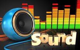 audio spettro dell'audio di spettro 3d Fotografia Stock Libera da Diritti