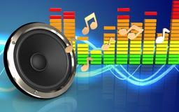 audio spettro dell'audio di spettro 3d Illustrazione di Stock