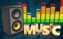 audio spettro dell'audio di spettro 3d Fotografia Stock