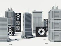 Audio stad Vector Illustratie