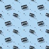 Audio Stereo analog kasety cienia Bezszwowy wzór Fotografia Royalty Free