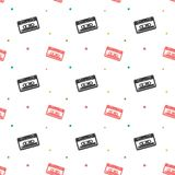 Audio Stereo Cassette Seamless Retro Pattern Royalty Free Stock Photos