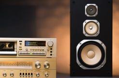 Audio stereo rack Royalty Free Stock Image
