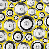Audio stereo system sound speakers background Stock Image