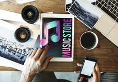 Audio Store Music Note Icon Graphic Concept Royalty Free Stock Photos