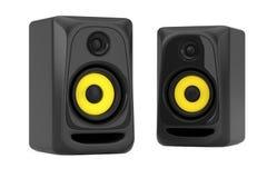 Audio Studio Acoustic Speakers. 3d Rendering. Audio Studio Acoustic Speakers on a white background. 3d Rendering Stock Image