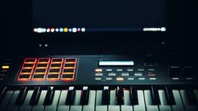 Audio Studio Midi Controller Royalty Free Stock Images