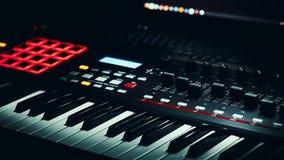Audio Studio Midi Controller Royalty Free Stock Photo