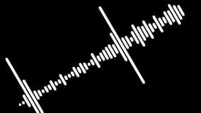 Audio sygnału wyrównywacz rozsądna fala jako tło ruch Czarny tło ilustracji