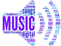 Audio symbol tagcloud. Audio symbol tag cloud pictogram illustration - music concept vector illustration