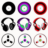 Audio symbols Royalty Free Stock Photos