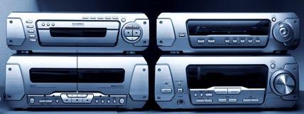 Audio systeem blauwe tint stock fotografie