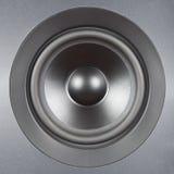 Audio Systeem. Zilveren sprekers dichte omhooggaand. Royalty-vrije Stock Foto's