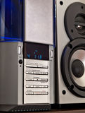 Audio system. Fragment of Hi-Fi digital audio system close-up Royalty Free Stock Images