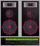 Audio system. High performance stereo system illustration Royalty Free Stock Images
