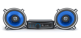 Audio system car Royalty Free Stock Photography