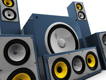 Audio system closeup Stock Images
