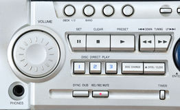 Audio system closeup. Stock Photos