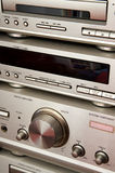 Audio system finished in silver Stock Photos