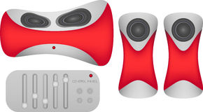 Audio system with speakers Royalty Free Stock Photo