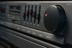 Audio System Volume and Graphic Equalizer  Royalty Free Stock Image