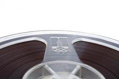 audio tła kasety odosobniony stary nadmierny biel Obraz Stock