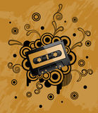 Audio tape. Abstract grunge background with audio tape. Vector illustration Stock Images
